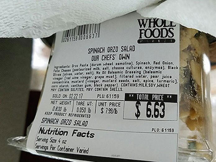 Whole Foods Spinach Orzo Salad Recall