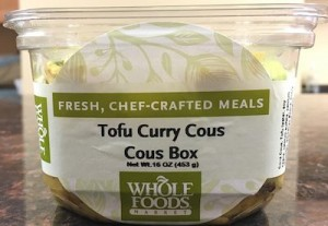 Whole Foods Tofu Curry Cous Cous Box Recall