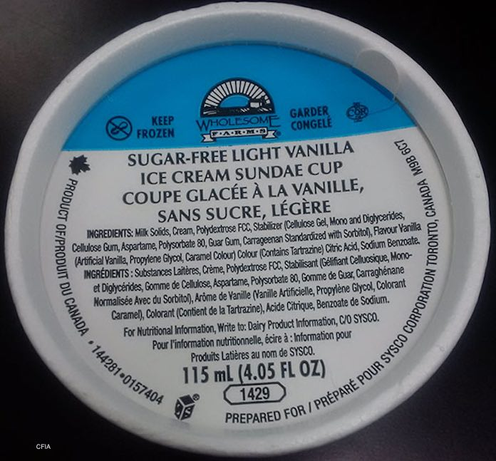 Wholesome Farms Sugar Free Sundae Cup Listeria Recall