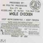 AA Poultry Recalled for Unapproved Processing Chemical