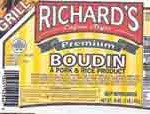 Richard's Boudin Recalled for Temperature Abuse, Bacillus cereus