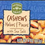 Southern Grove Cashews Recalled for Possible Glass Contamination
