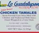 La Guadalupana Chicken Tamales Recalled