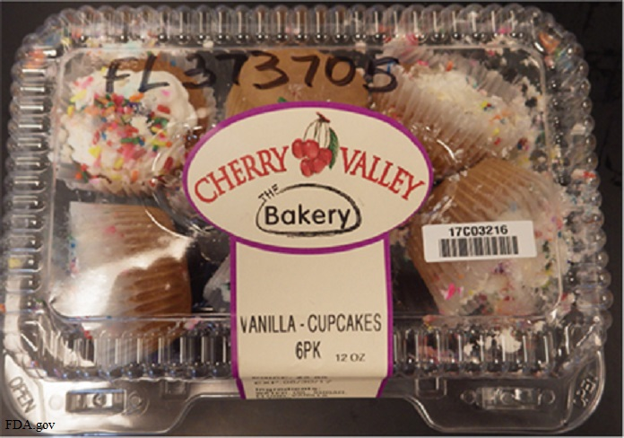 Cherry Valley cupcakes recall