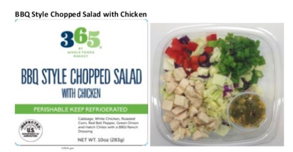 365 by Whole Foods Salad Listeria Salmonella Recall