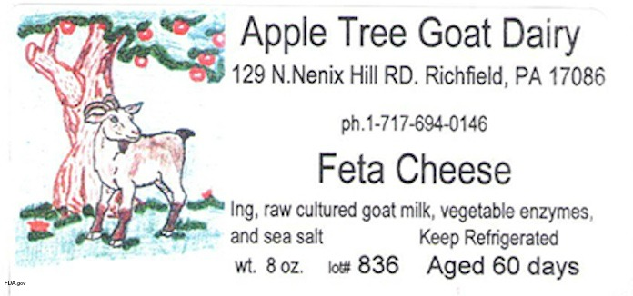 Apple Tree Goat Dairy Cheese Listeria Recall