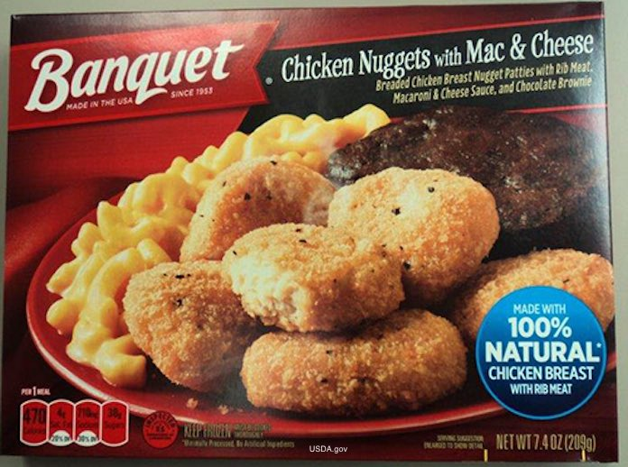Banquet Chicken Nuggets Meal Tray Salmonella Recall