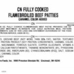 CN Fully Cooked Flamebroiled Beef Patties Recall