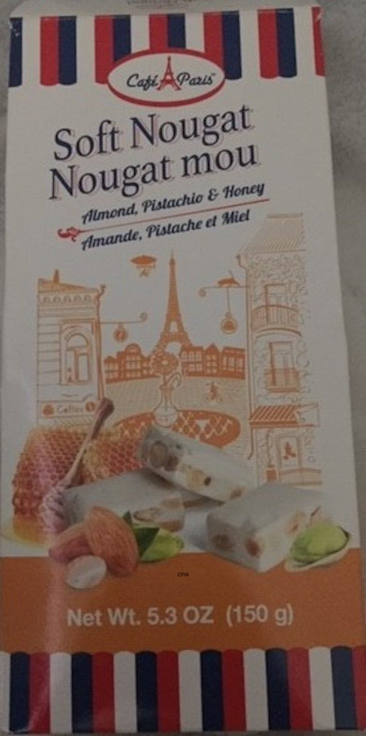 Cafe Paris Soft Nougat Recalled in Canada For Undeclared Milk