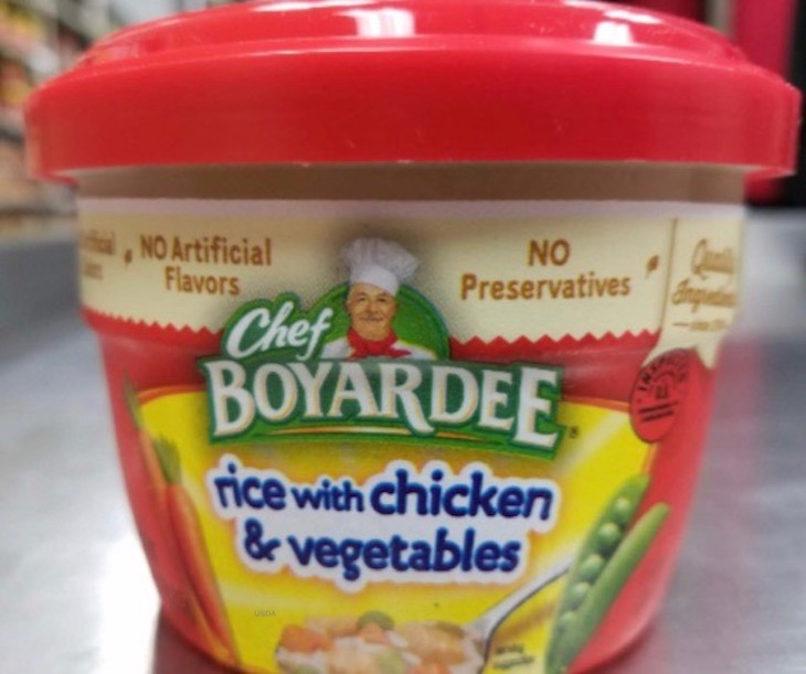Chef Boyardee Rice With Chicken Recall