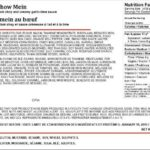 Chefs Plate Beef Chow Main Salmonella Recall