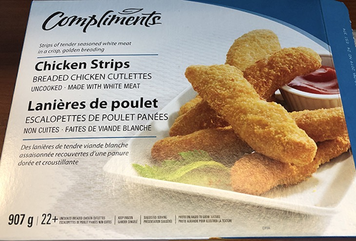 Compliments Chicken Strips Linked to Salmonella Outbreak in Canada