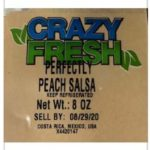 Crazy Fresh Peach Salsa Recalled For Possible Salmonella