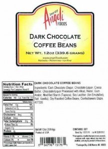 Dark Chocolate Coffee Beans Recall