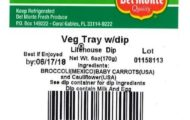 Del Monte Recalls Vegetable Trays Linked to Cyclospora Outbreak in MN, WI, IA, and MI