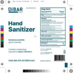 Dibar Labs Hand Sanitizer Recalled for the Presence of Methanol