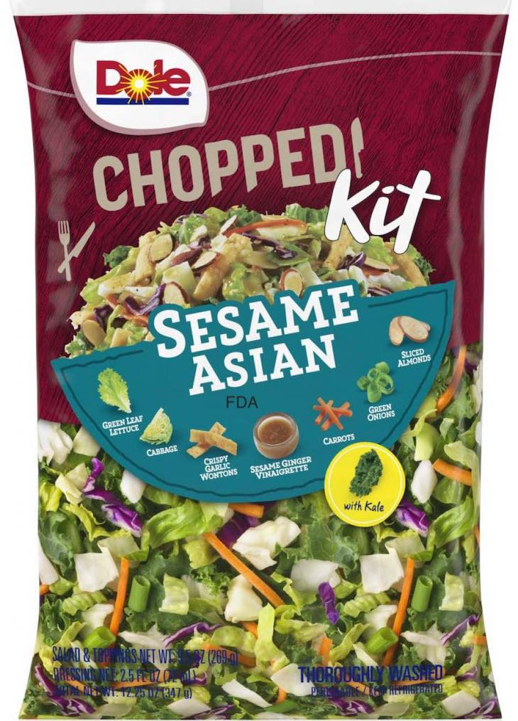 Dole Sesame Asian Chopped Salad Kit Recalled For Allergens