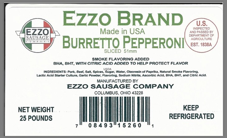 Ezzo Sausages Recalled For Possible Listeria Monocytogenes Contamination