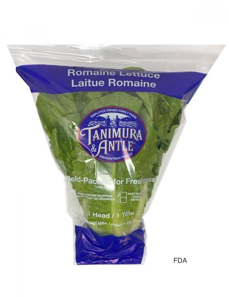 FDA Notice of Tanimura & Antle Romaine Recall For Possible E. coli
