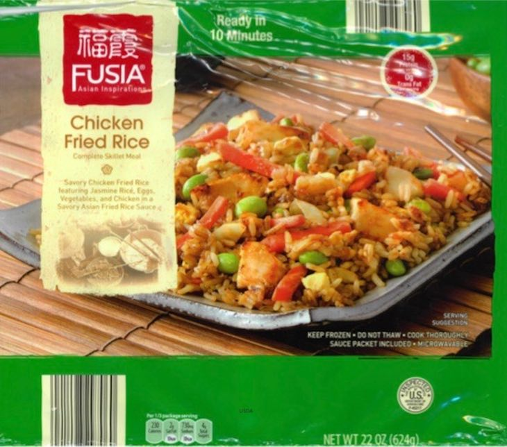 FUSIA Chicken Fried Rice Recall