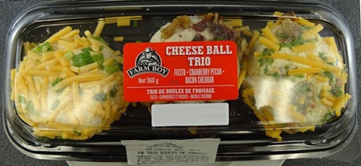 Farm Boy Cheese Balls Recalled in Canada For Listeria Monocytogenes