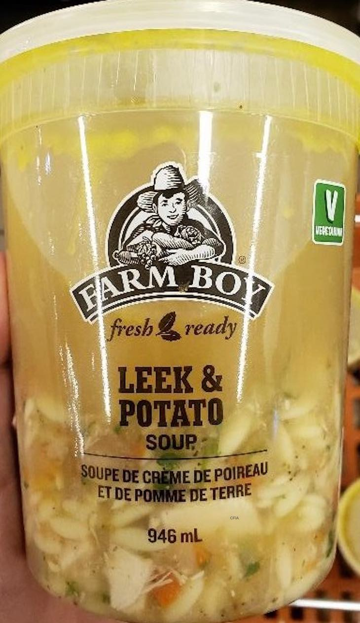 Farm Boy Recalls Two Soups in Canada For Undeclared Allergens