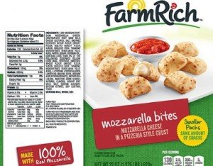 E. coli 0121 Farm Rich Mozzarella Bites