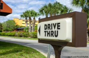 Drive Thru Sign for Fast Food Restaurant
