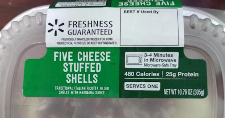 Five Cheese Stuffed Shells Recalled For Possible Listeria