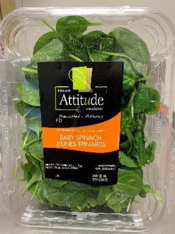 Fresh Attitude Baby Spinach Recalled For Possible Salmonella