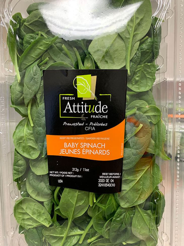 Fresh Attitude Baby Spinach Recalled in Canada For Possible Salmonella