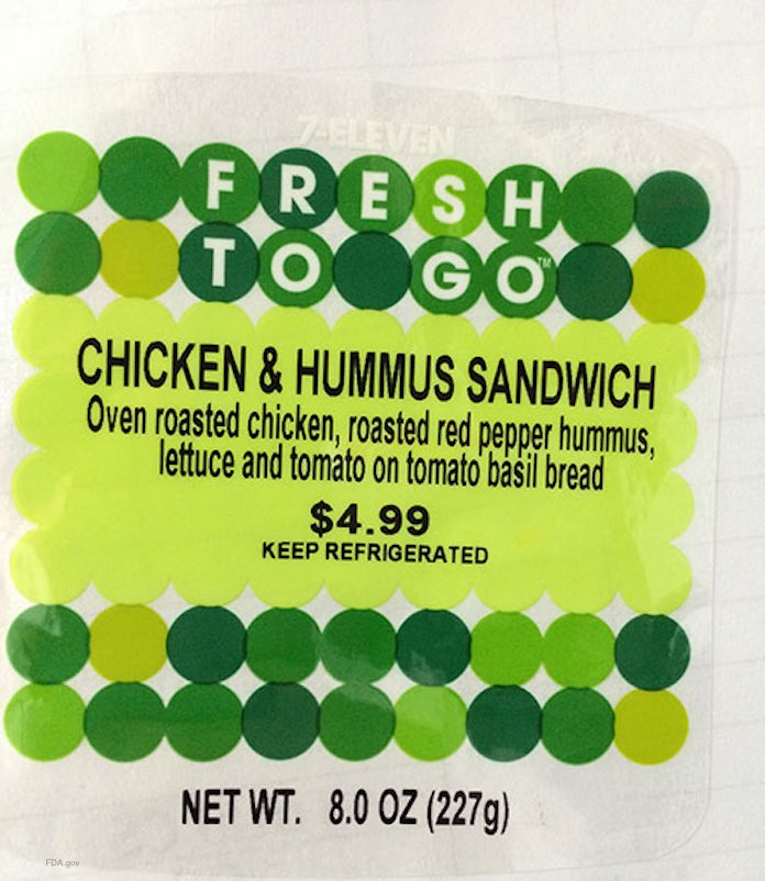 Fresh To Go Chicken & Hummus Sandwich Recall