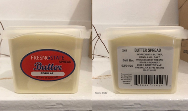 Fresno State Creamery Recalls Butter Spread For Listeria