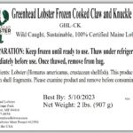 Frozen Greenhead Lobster Recalled For Possible Listeria Contamination