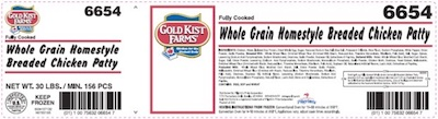 Gold Kist Chicken Nugget Recall