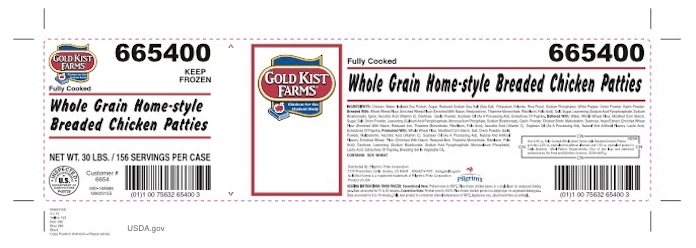 Gold Kist Chicken Patties Recall