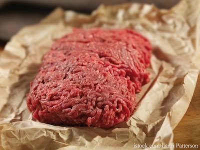 Ground Beef on Paper