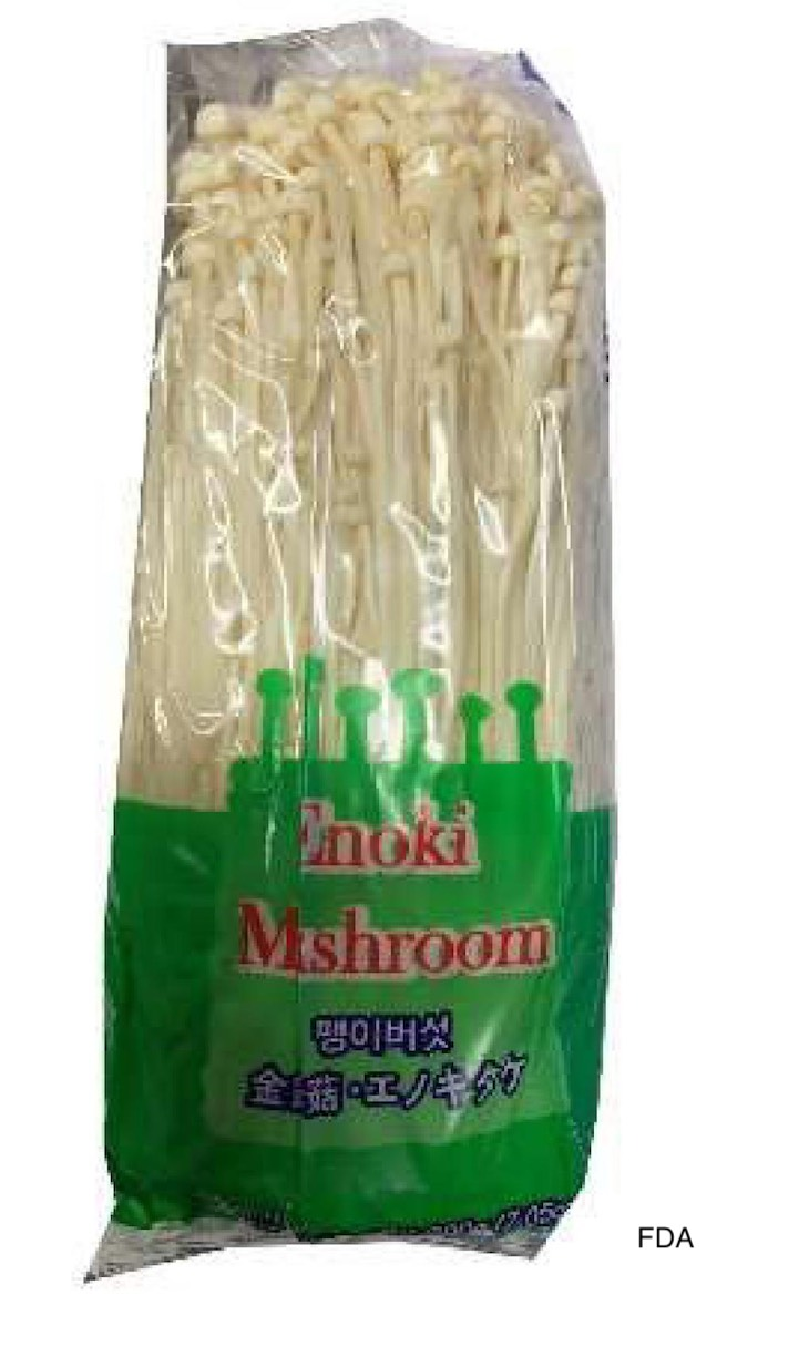 Three Enoki Mushroom Brands Recalled For Listeria Monocytogenes