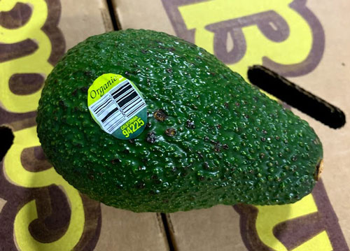 Henry Avocado Recall - CDC provided image - Organic Grown