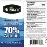 Herbacil Antiseptic Hand Sanitizer Recalled For Undeclared Methanol