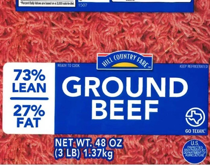Hill Country Fare Ground Beef Recall