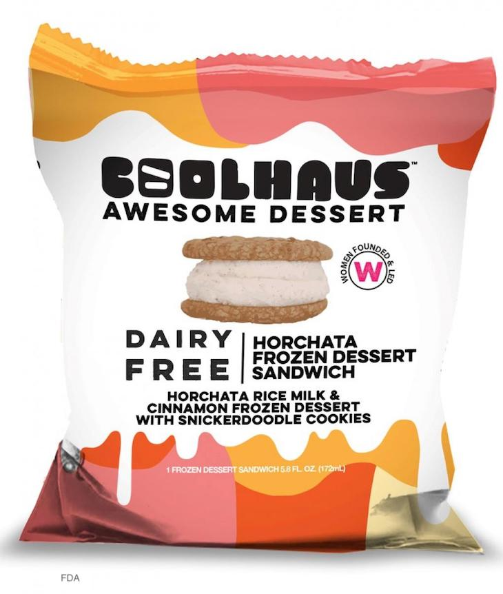 Coolhaus Dairy Free Horchata Sandwich Recalled For Undeclared Milk