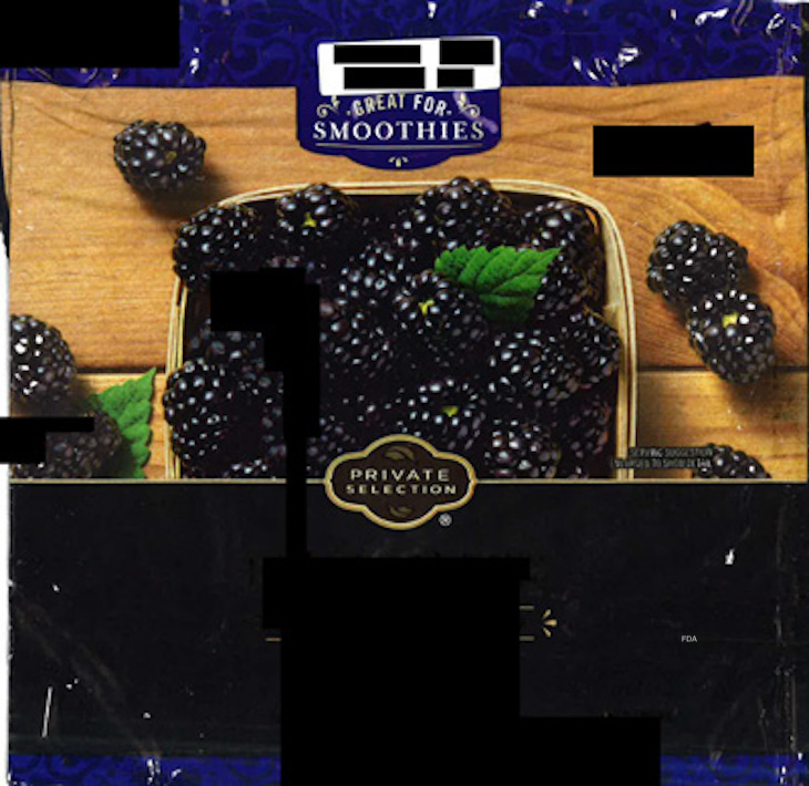 Kroger frozen blackberries Hepatitis A