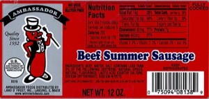 Land O Frost Summer Sausage Recall
