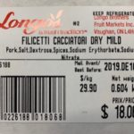 Longo's Ready-to-Eat Dry Sausages Recalled For Possible Salmonella