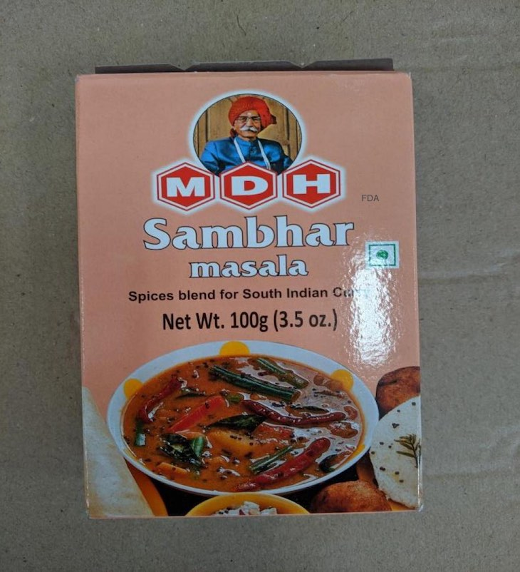 MDH Sambar Masala Recalled For Possible Salmonella
