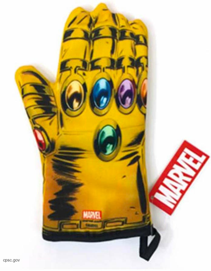 Marvel Oven Mitts Recall