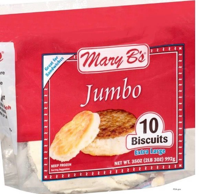 Mary B's Listeria Biscuits Recall