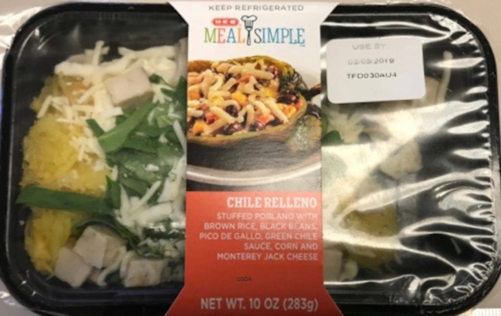 Meal Simple Chile Relleno Recall