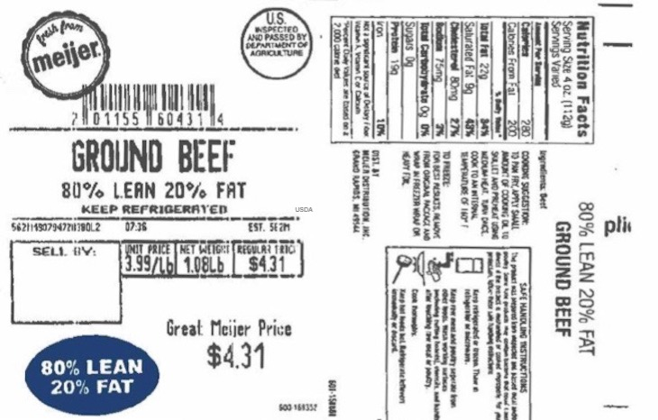 Meijer Ground Beef Loaf Recall